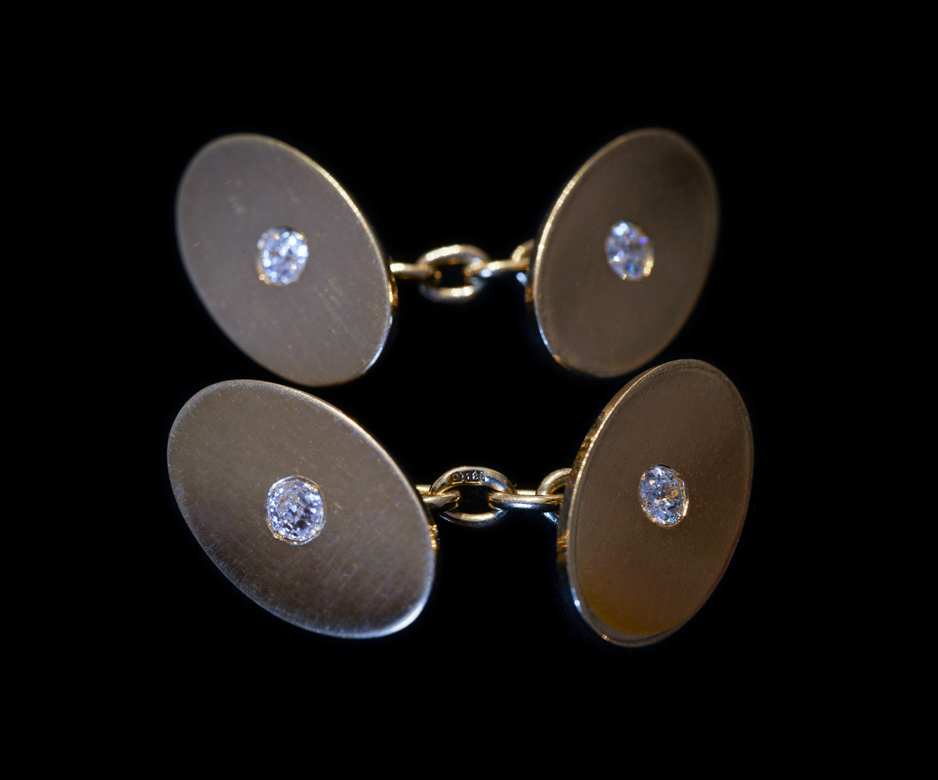 Art Deco gold and diamond cufflinks