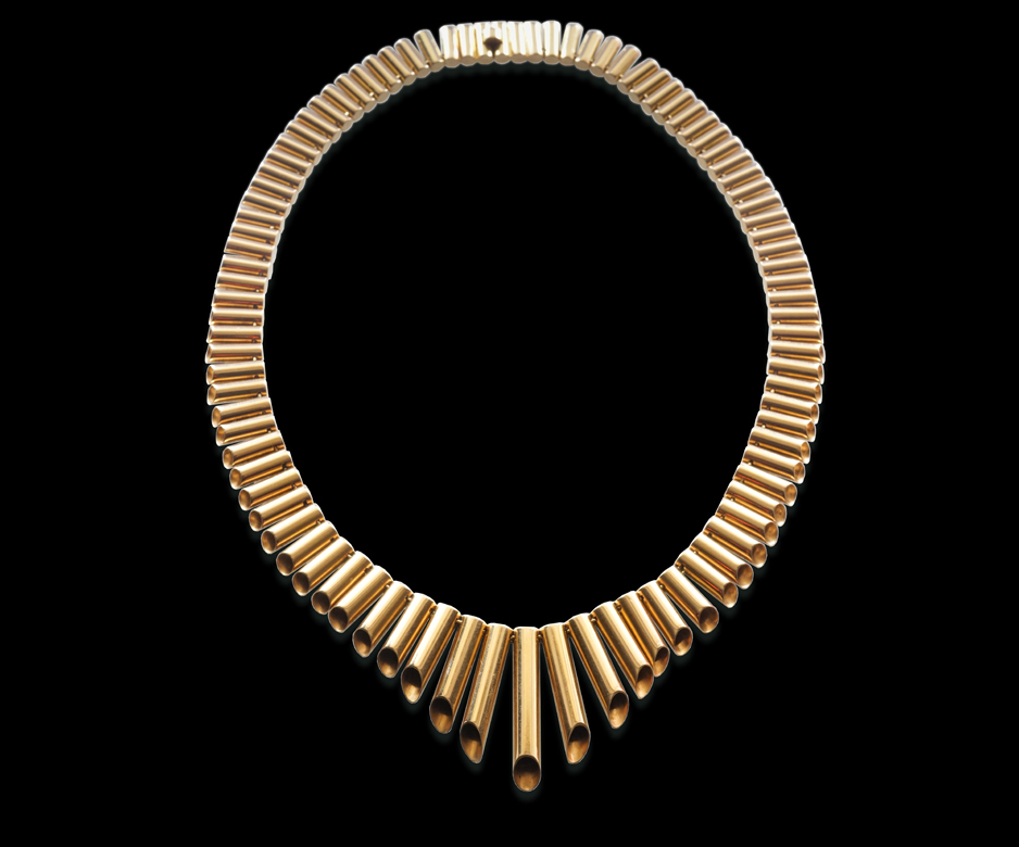 Art Deco 18ct gold necklace